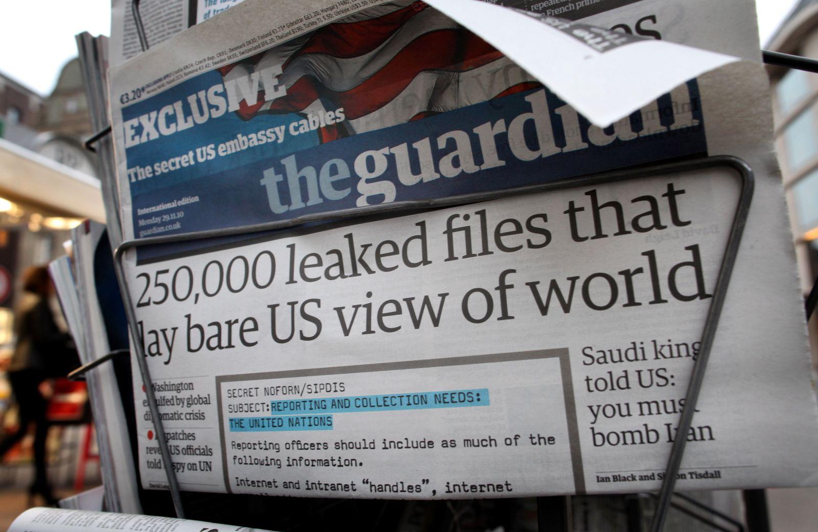 The Guardian/ Zeitung/ Kiosk/ Wikileaks