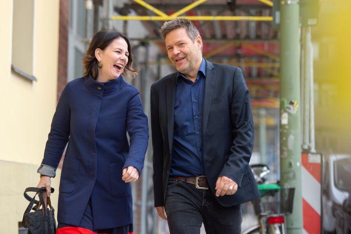 Annalena Baerbock und Co-Chef Robert Habeck