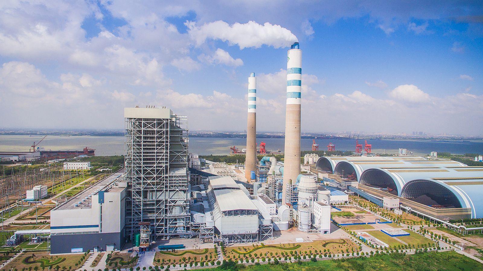EINMALIGE VERWENDUNG China/ Kraftwerk/ Emission