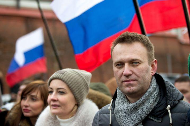 Alexej Nawalny und seine Frau Julia
