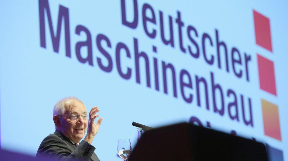 """Schäuble beim Maschinenbau-Gipfel: """"Werden darüber diskutieren müssen"""""""
