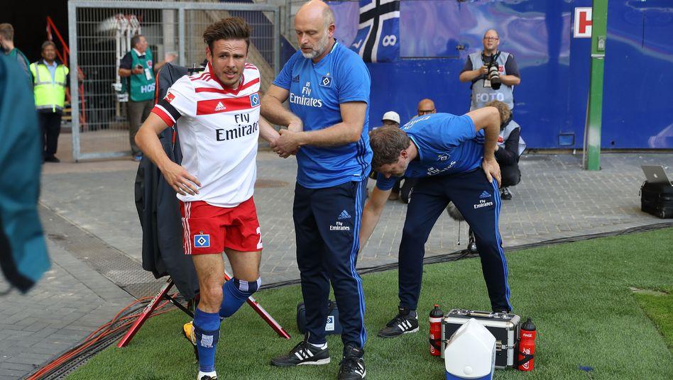 Verletzter HSV-Spieler Müller