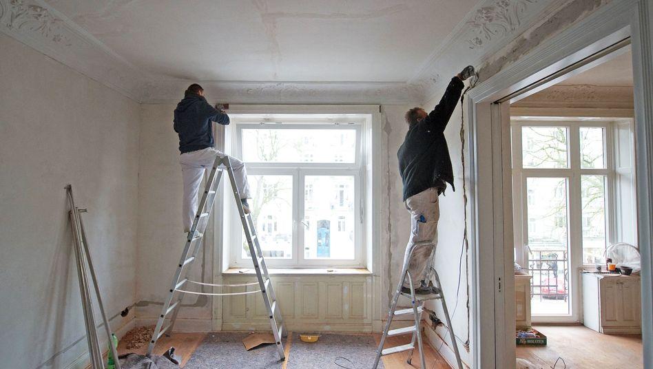 Renovierung in einem Altbau: Helle Wände sind Pflicht