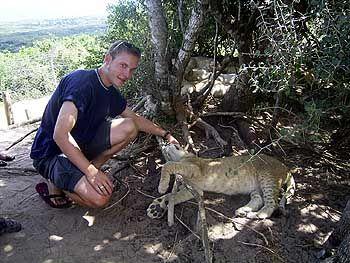Löwen gehören zu Afrika: Unser Autor Christoph Scheld