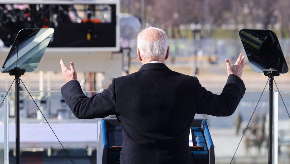 Der 46. Präsident der USA: Joe Biden bei seiner Antrittsrede