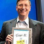 """Bill Gates, Tablet PC (2002): Sollte """"super cool"""" sein, war aber ein Flop"""