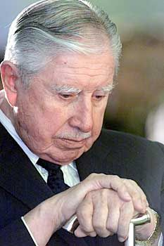 Former Chilean dictator Augusto Pinochet took over from Allende in a violent overthrow.