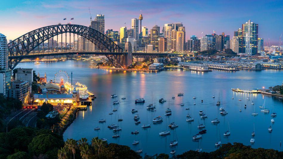 Sonnenuntergang in Sydney: Australien ringt mit China und dem Klima