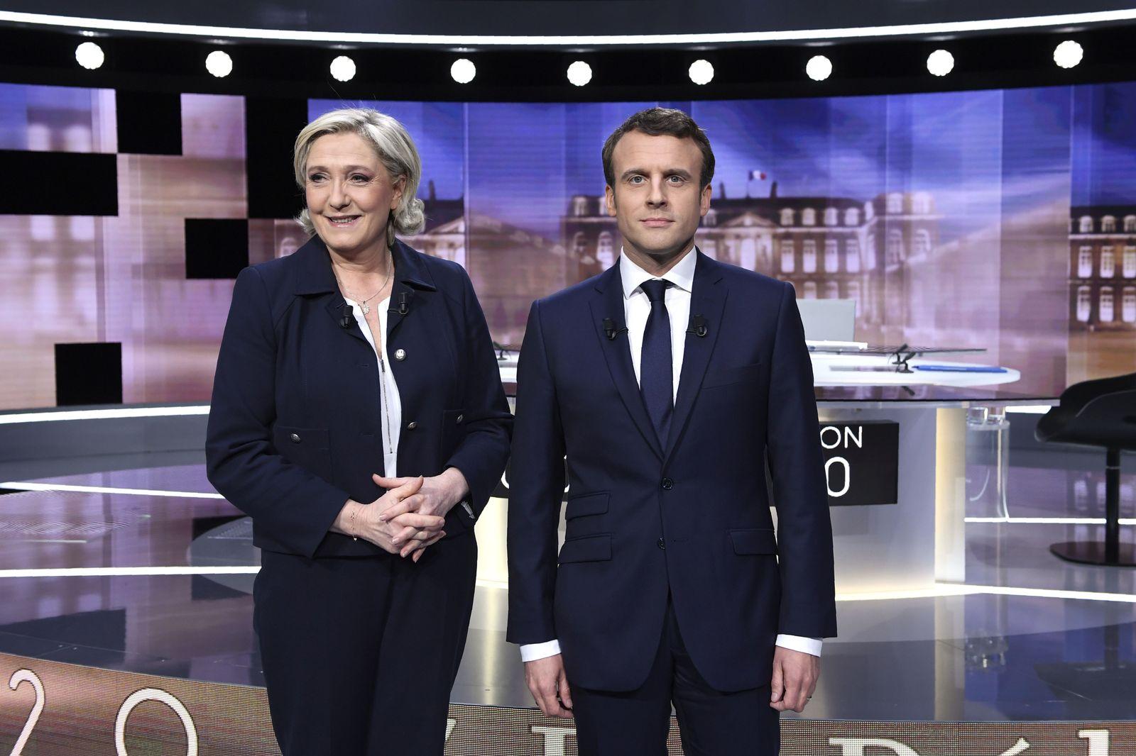 Le Pen / Macron / Wahl/ Frankreich 2017