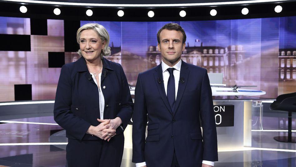Le Pen und Macron