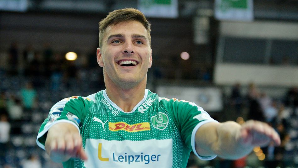 Lucas Krzikalla, Aussenspieler vom SC DHfK Leipzig