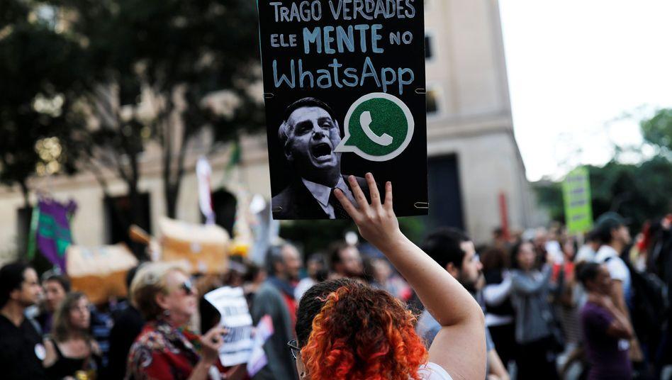 Proteste gegen Jair Bolsonaro in São Paulo