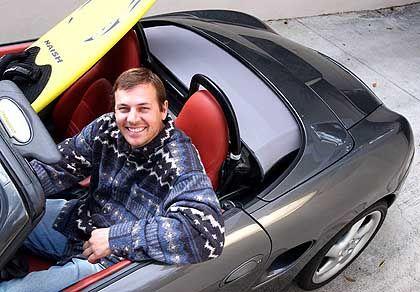 Erinnerungen an die Porsche-Zeit: Belker in seinem Boxster