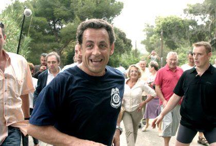 Lachender Läufer: Dieser Mann ist ganz sicher nicht geliophob