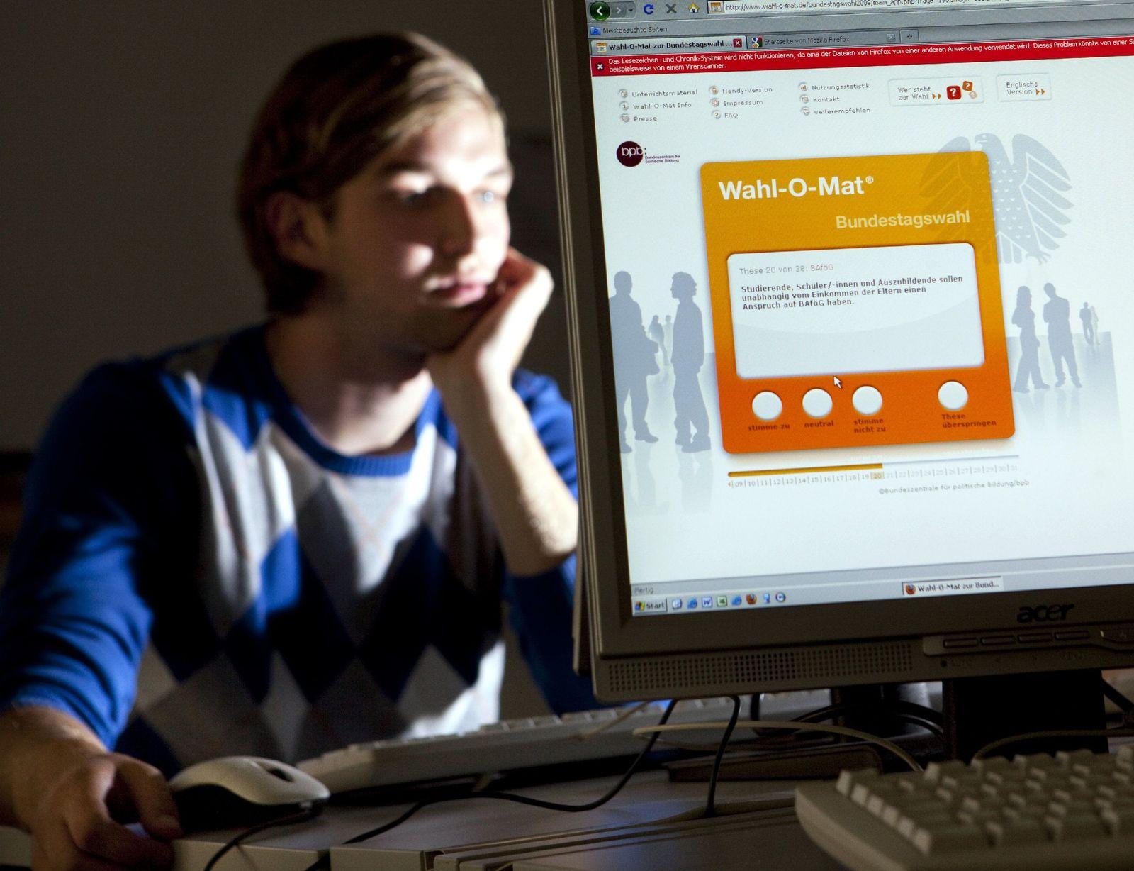 Wahl-O-Mat Schüler Jugendliche Bundestagswahl