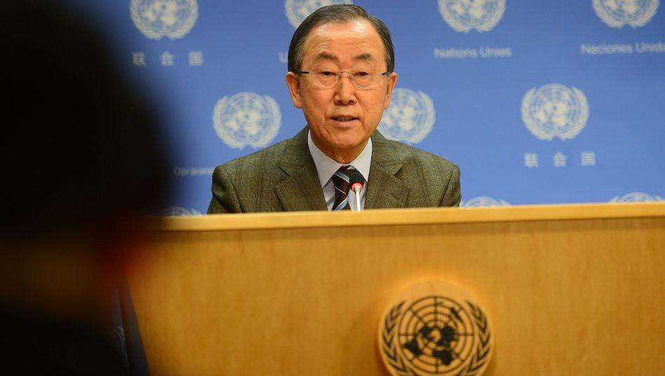 Uno-Generalsekretär Ban Ki Moon: Diplomatische Niederlage