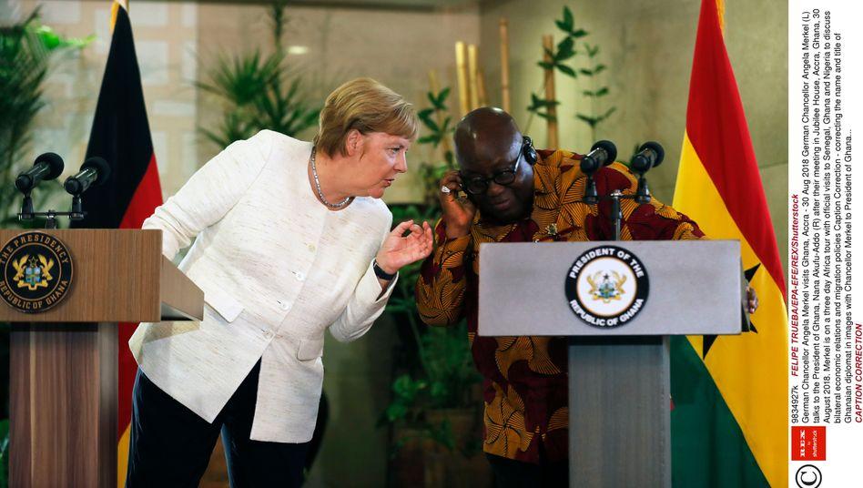 Angela Merkel als Gast bei Ghanas Staatschef Akufo-Addo