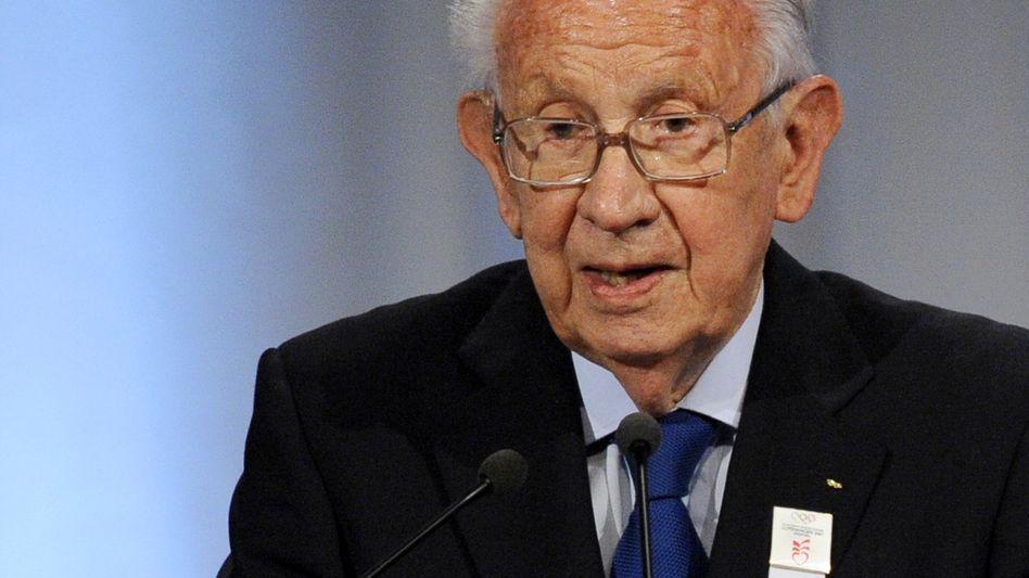 """Ex-IOC-Präsident Samaranch (Oktober 2009): Zustand """"ernst, aber stabil"""""""