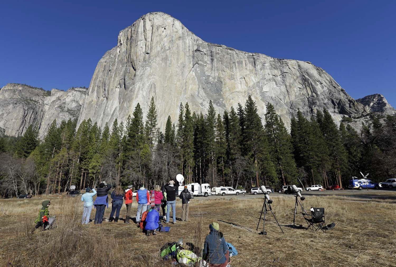 El Capitan Yosemite Spectators