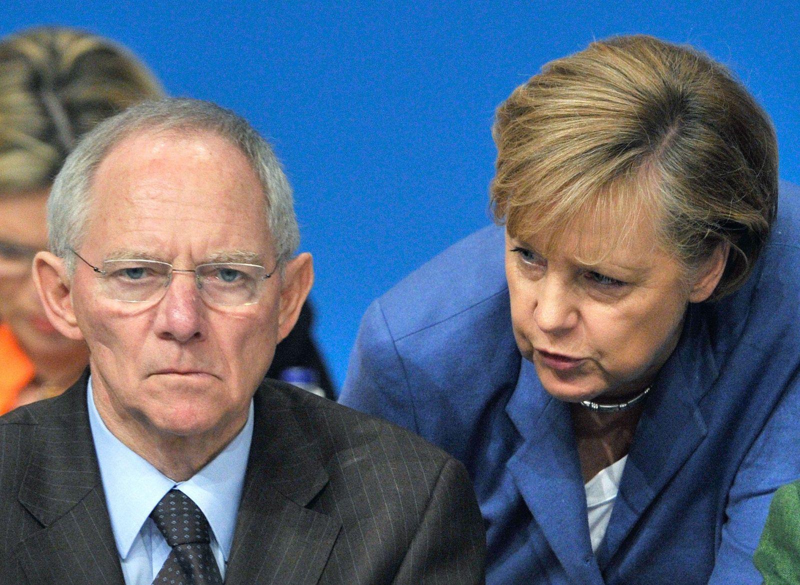 Schäuble/ Merkel