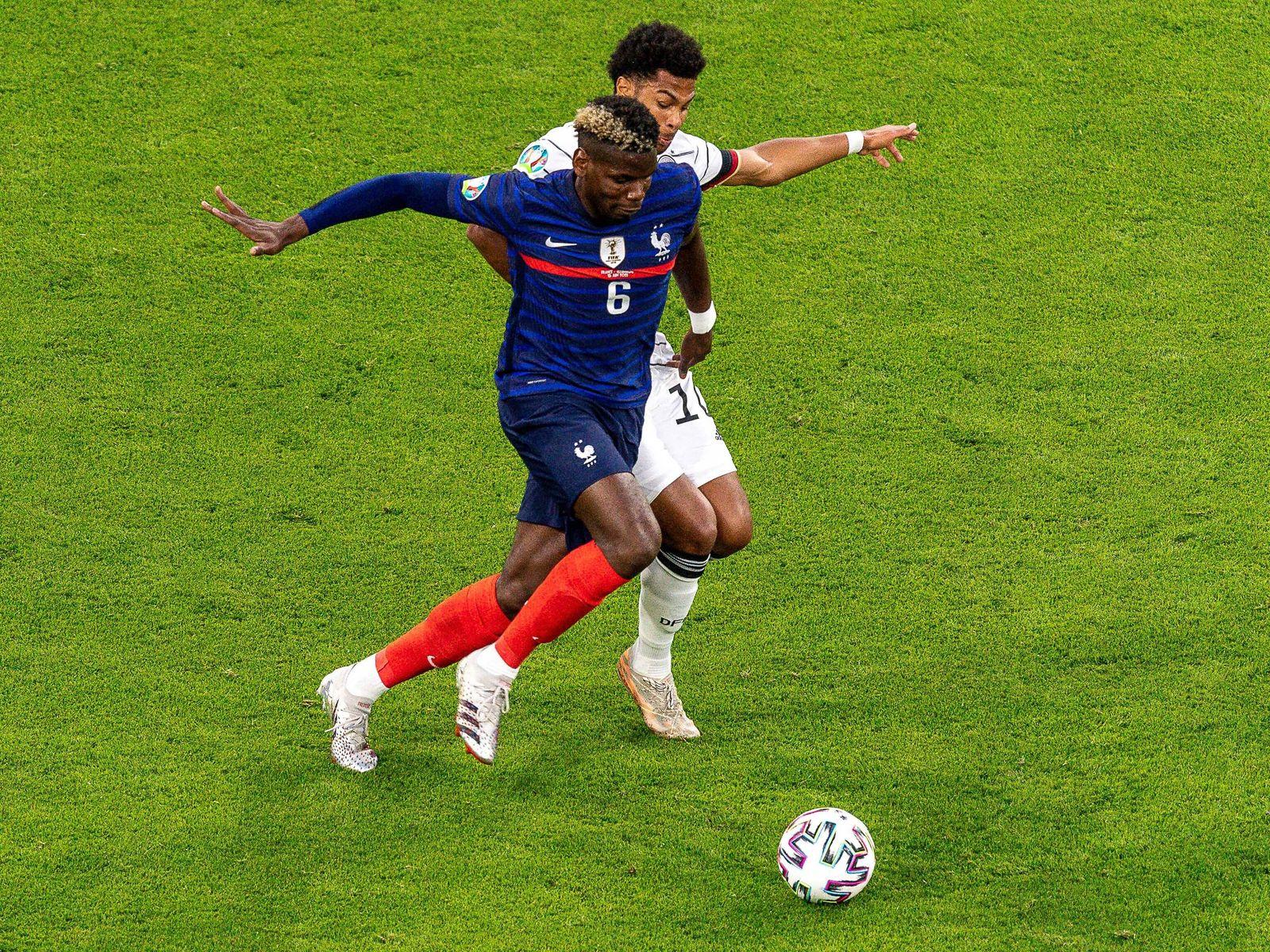 Paul Pogba (Frankreich, 06), Serge Gnabry (Deutschland, 10), GER, Frankreich vs. Deutschland, Fussball, UEFA EURO, EM, E