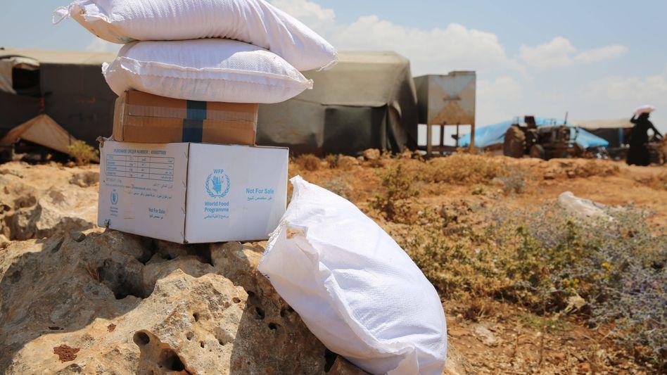 Uno-Hilfsgüter in Aleppo, Syrien