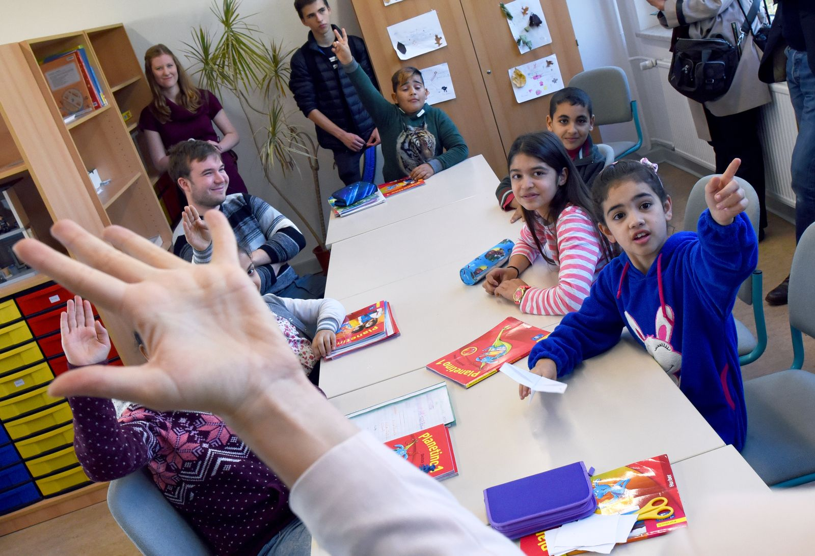 Flüchtlingskinder Schulen / Potsdam-Schlaatz