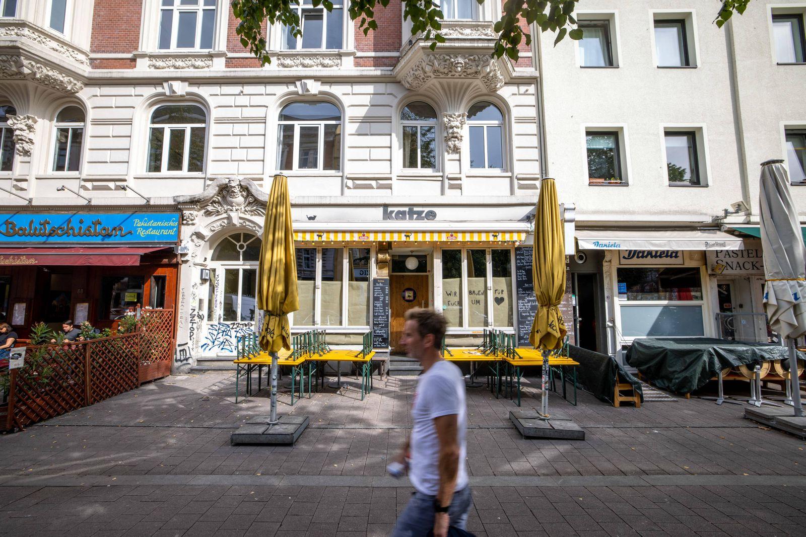 Hamburg, 17. September 2020 - Bar ?Katze ? im Hamburger Schanzenviertel *** Hamburg, 17 September 2020 Bar Katze in Hamb