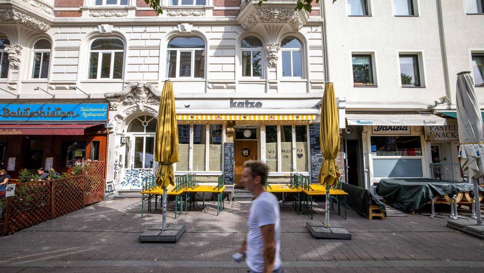 """Die Bar """"Katze"""" im Hamburger Ausgeh-Viertel Schanze: Hier haben sich zuletzt Personal und Gäste infiziert"""
