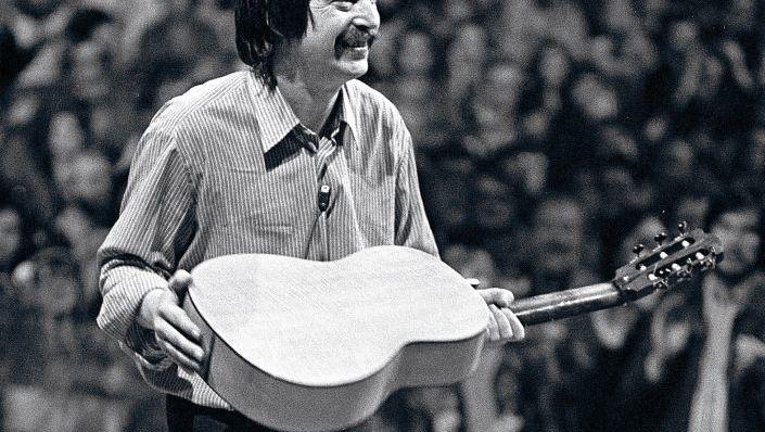 Wolf Biermann beim Konzert in Köln, 1976