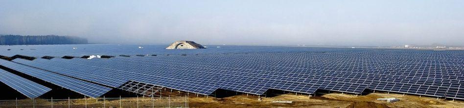 Europas größtes Solarkraftwerk im brandenburgischen Finowfurt