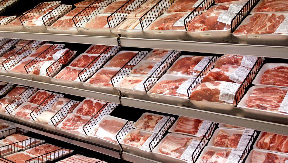 Fleischabteilung im Supermarkt