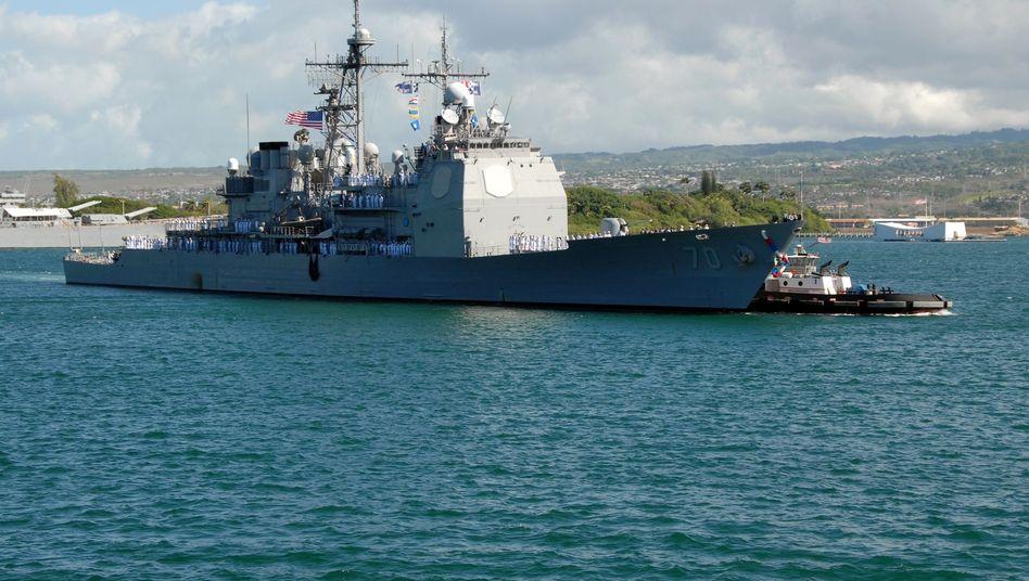 """USS """"Lake Erie"""" (Archivbild): Aus dem Besuch im kommenden Monat wird nichts"""
