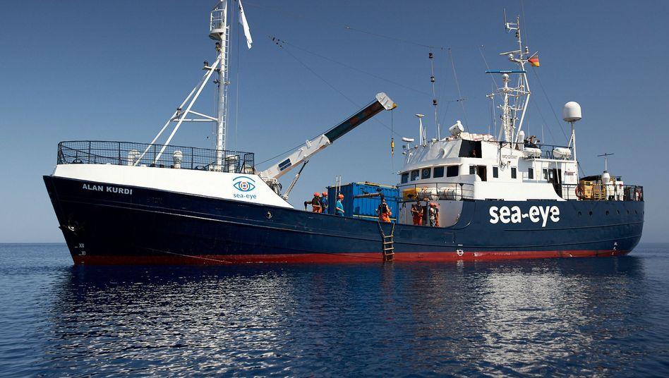 "Die ""Alan Kurdi"" nimmt Kurs auf Lampedusa"