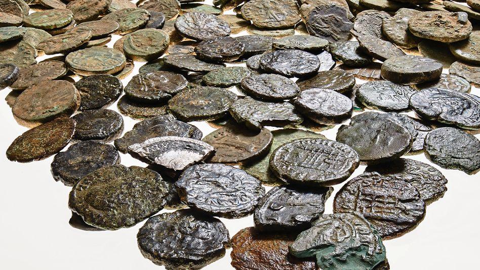 Antike Münzen aus der Nähe von Mönchengladbach