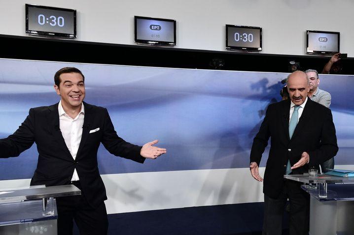 Konkurrenten im TV: Jung und links gegen alt und konservativ
