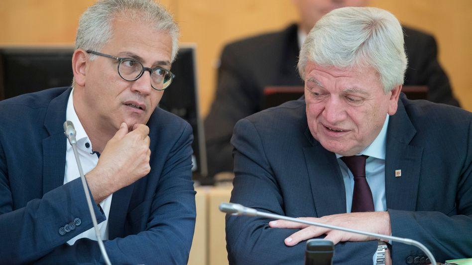 Tarek Al-Wazir (Grüne) und Volker Bouffier (CDU)