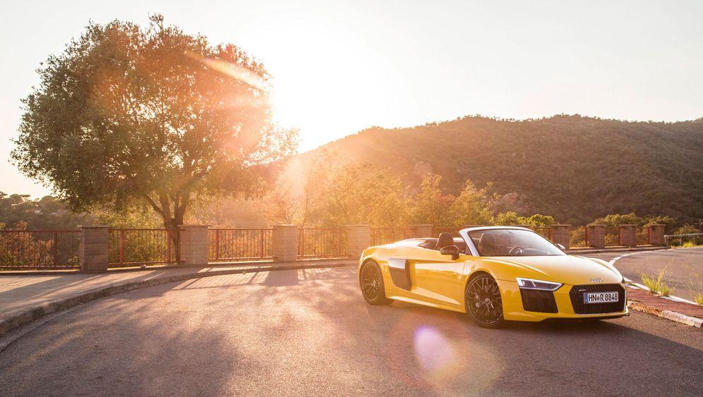 Autogramm Audi R8 Spyder: Fast wie früher