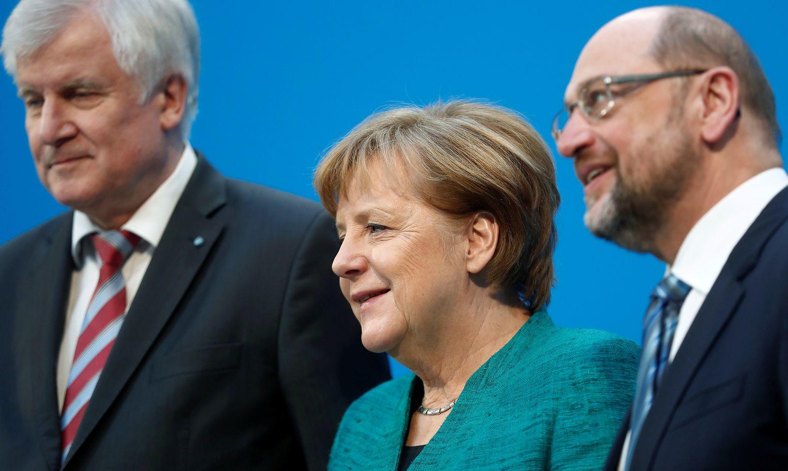 Seehofer / Merkel / Schulz