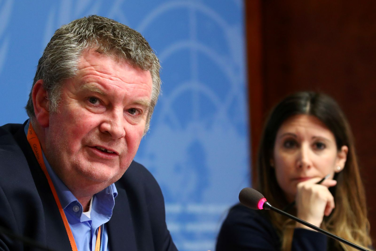Michael J. Ryan, Executive Director of the World Health Organization (WHO) Health Emergencies Programme speaks during a news conference on the situation of the coronavirus, in Geneva