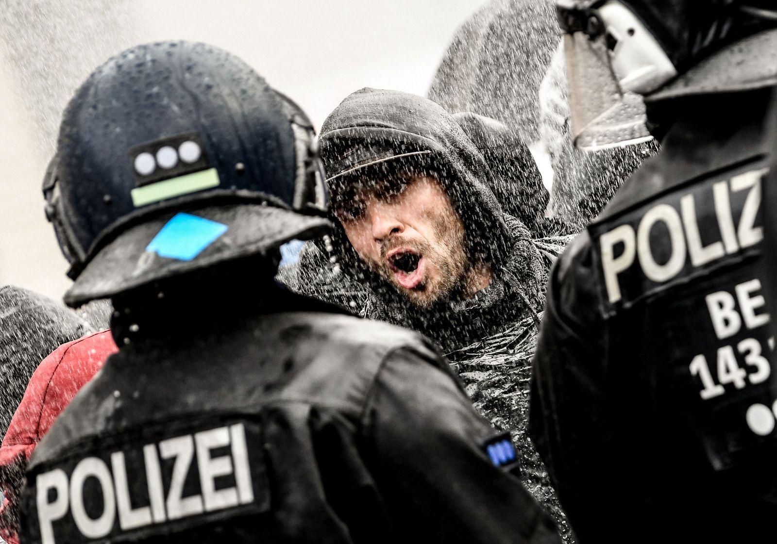 Demonstration against coronavirus restrictions in Berlin, Germany - 18 Nov 2020