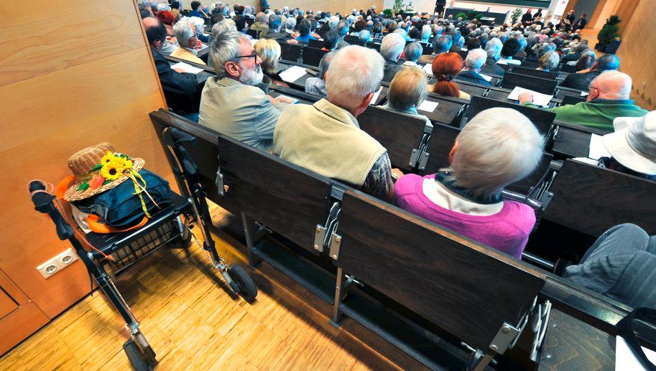 Teilnehmer der Dresdner Seniorenakademie (Archivbild)