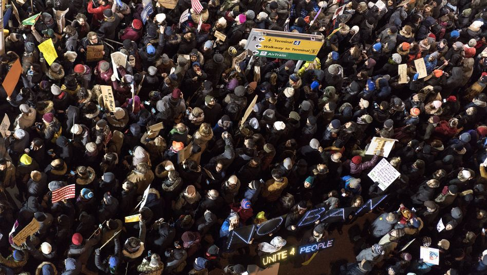 Protest am John F. Kennedy Airport in New York