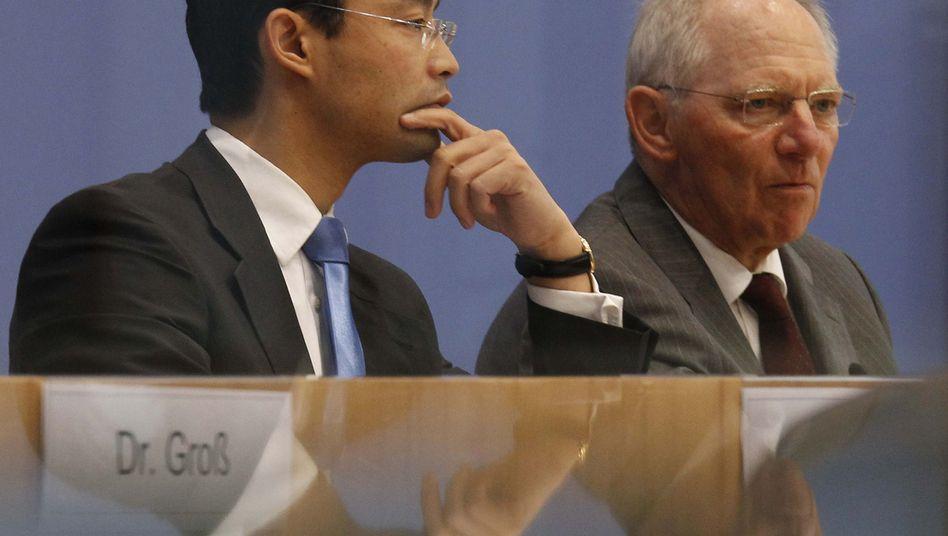 Minister Rösler, Schäuble: Kurzfristige Einladung, schnelle Empörung