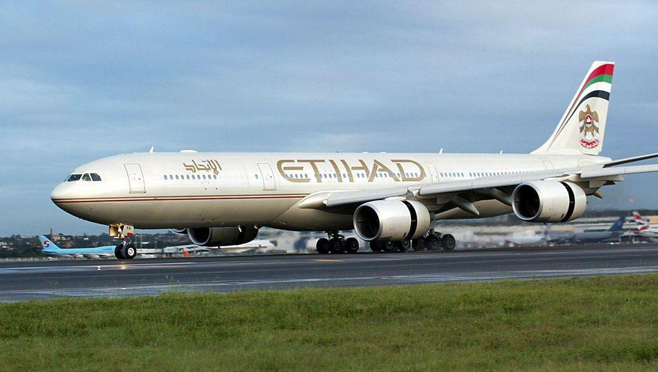 """Flugzeug von Etihad Airways (Archivbild): """"Am stärksten betroffen"""""""