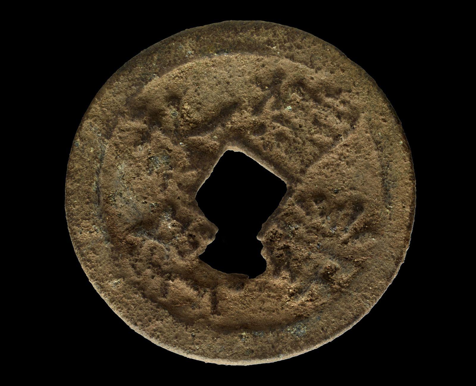 AUSGEGRABEN Chinesische Münze / Kenia