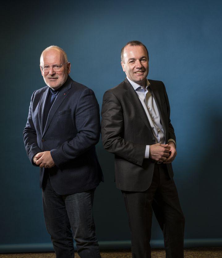 Frans Timmermans und Manfred Weber