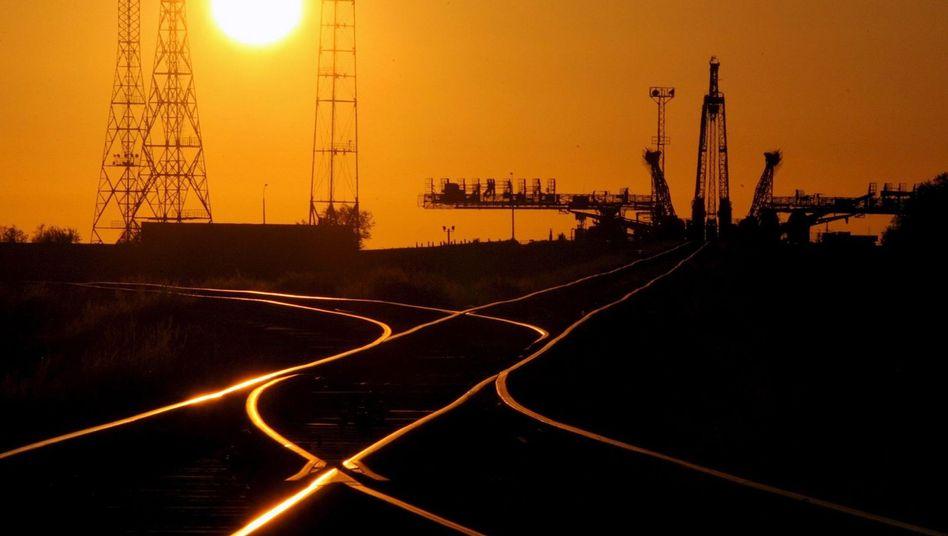 """""""Sojus""""-Startkomplex in Baikonur (September 2006): """"Ein Schritt in die Zukunft"""""""