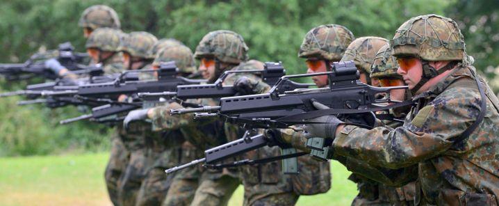 Soldaten beim Training mit dem G36