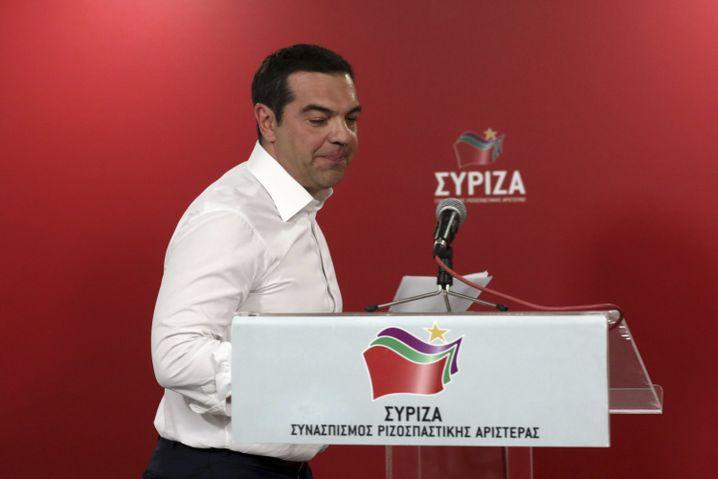 Da läuft er: Alexis Tsipras vor Ausrufung von Neuwahlen